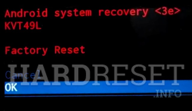 Master Reset SHARP MS1