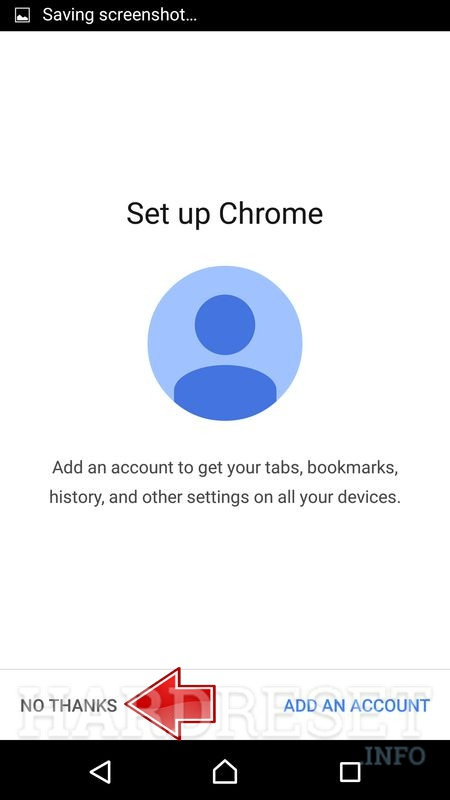 no thanks button in chrome app