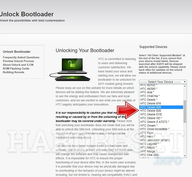 How To Unlock Bootloader in HTC phone? - HardReset info