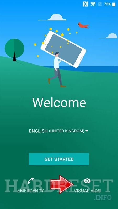 welcome screen sony android 7