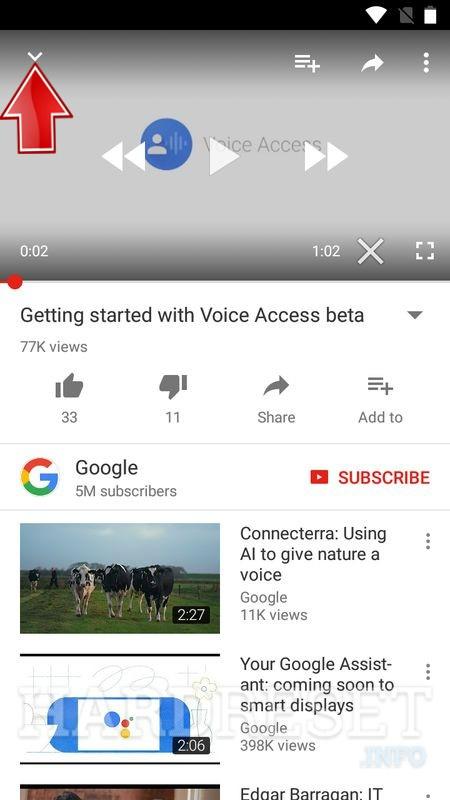 youtube app main menu