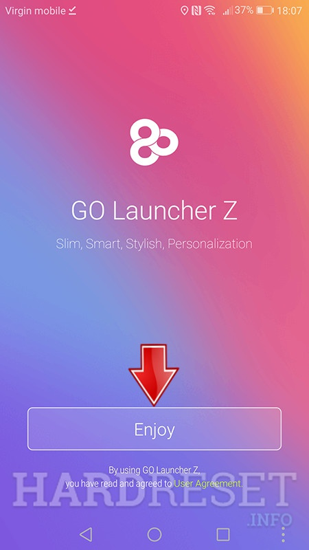 go launcher enjoy button