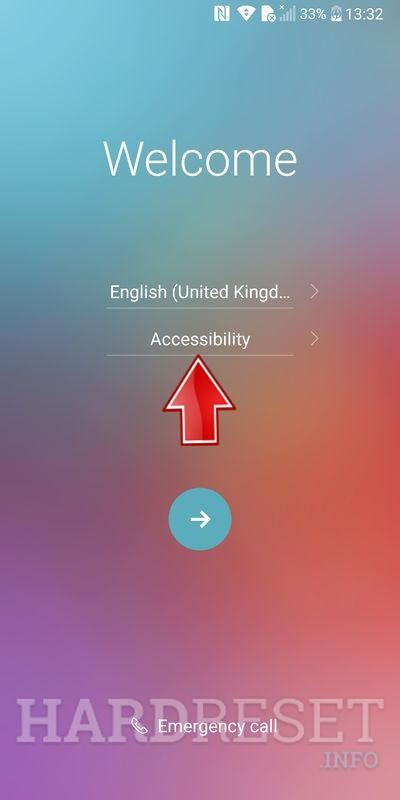 Accessibility button select
