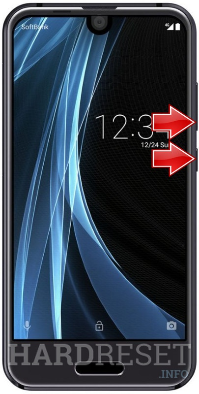 Remove screen password on SHARP Aquos R Compact