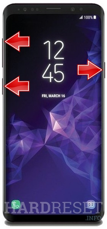 Hard Reset SAMSUNG Galaxy S9 - HardReset info