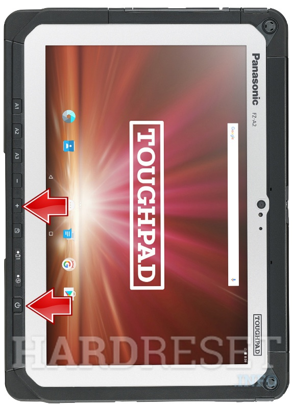 Factory Reset PANASONIC Toughpad FZ-A2