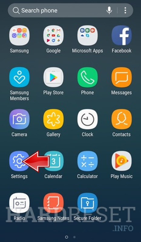 Remove screen password on SAMSUNG Galaxy Express Prime 2