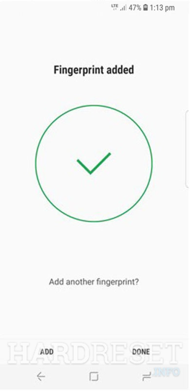 Fingerprint added