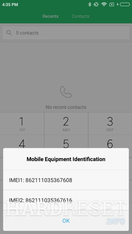 Codes XIAOMI Redmi Note 5 Pro - HardReset info