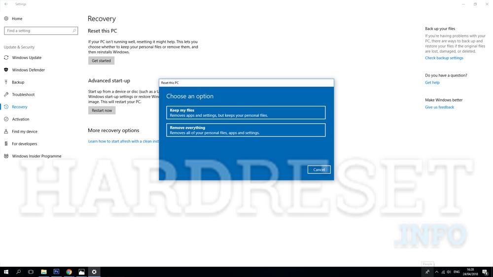 Factory Reset MICROSOFT Surface Book 2 15 - HardReset info