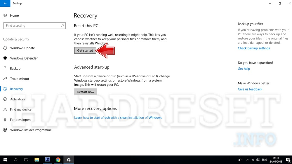 how to reset microsoft surface book 2