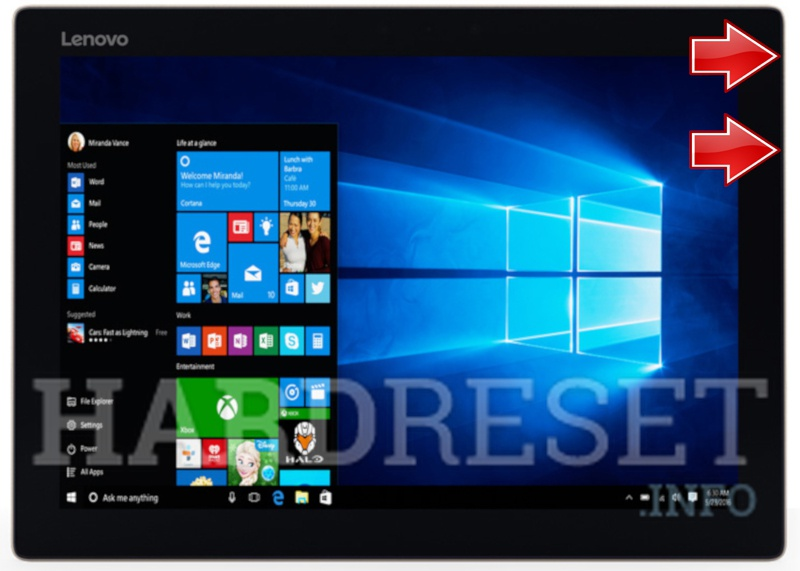 Screenshot LENOVO Miix 720 12