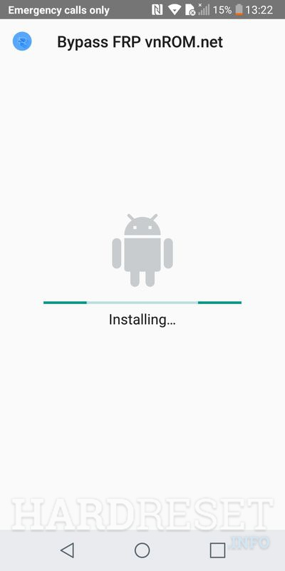 LG Q6 application is installing