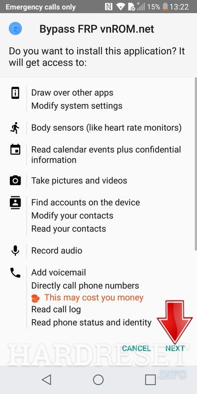 How bypass Google Account protection in LG LS997 V20 (Sprint