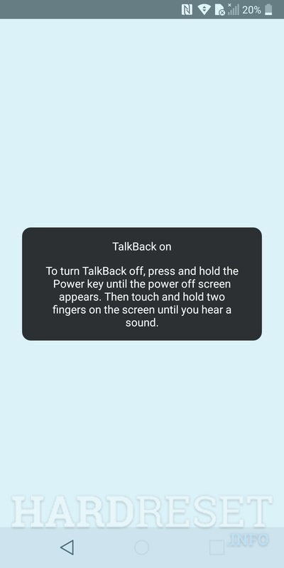 LG Q6 talkback enable