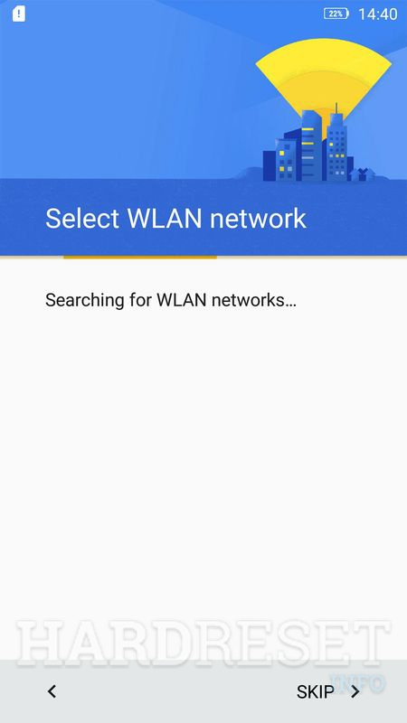 Lenovo K6 wifi welcome menu