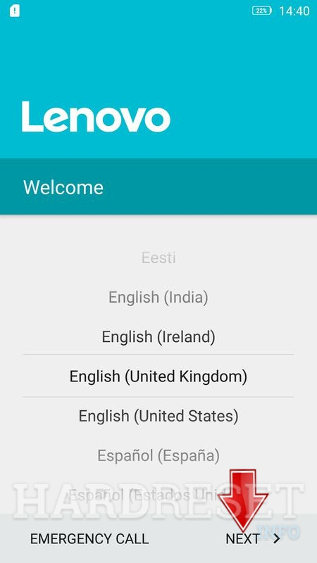 Lenovo K6 Google Account protection bypass