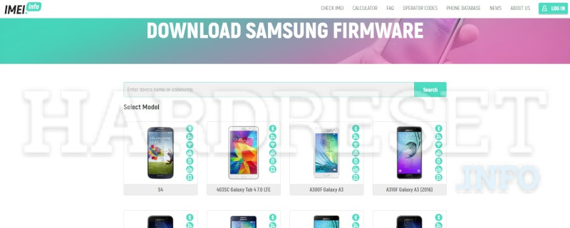 Scarica firmware originali samsung