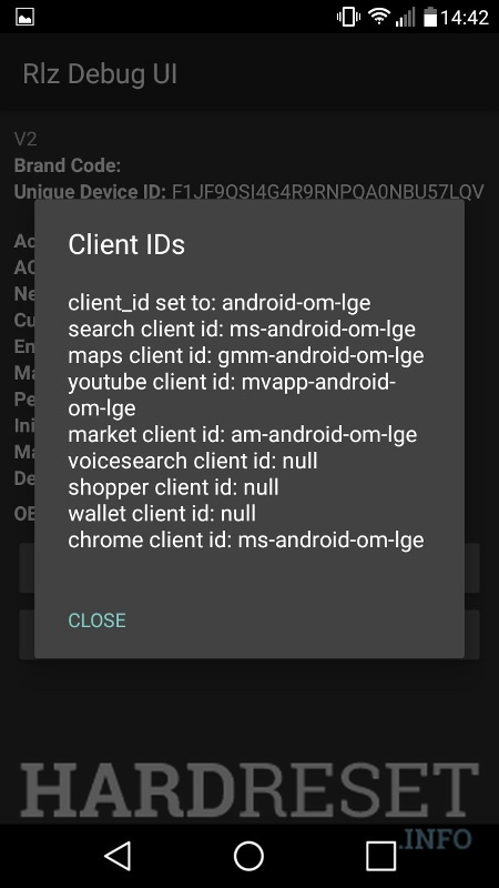 Codes LG V35 ThinQ - HardReset info