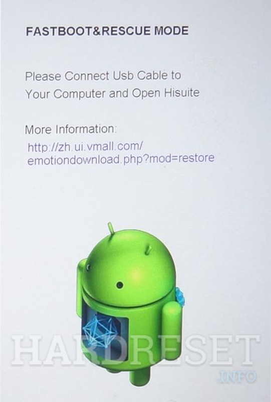 Fastboot Mode HUAWEI Honor Play - HardReset info