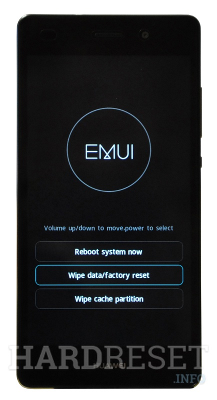 Factory Reset HUAWEI Honor 6 Play