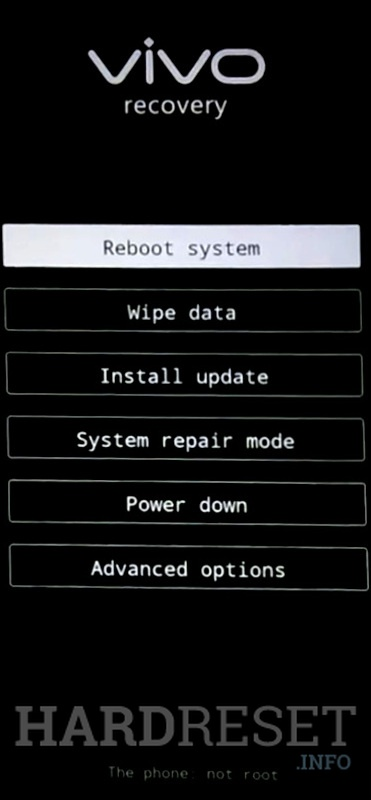 Factory Reset VIVO Z1i