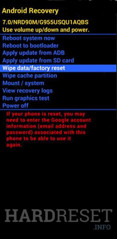 Format SAMSUNG Galaxy Note 9