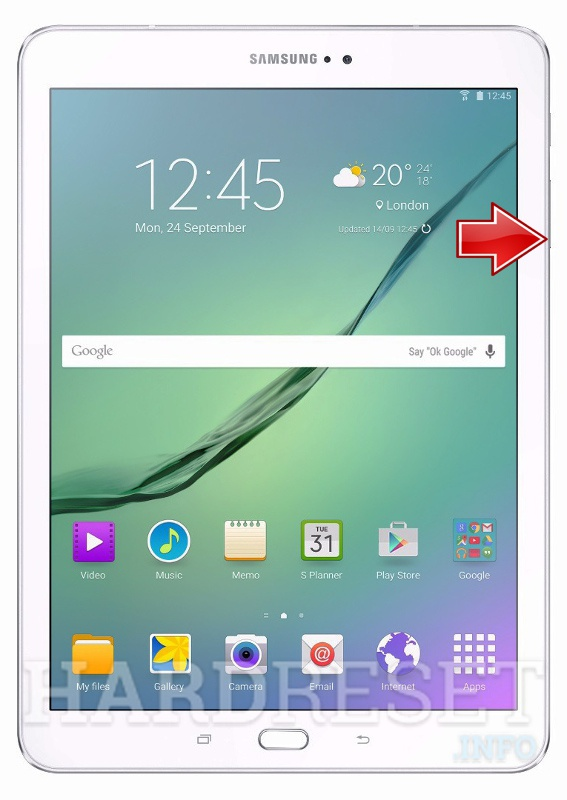 Safe Mode - SAMSUNG T710 Galaxy Tab S2 Nook 8 0