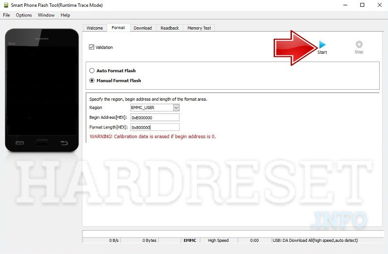 spflash zte blade a602 process started