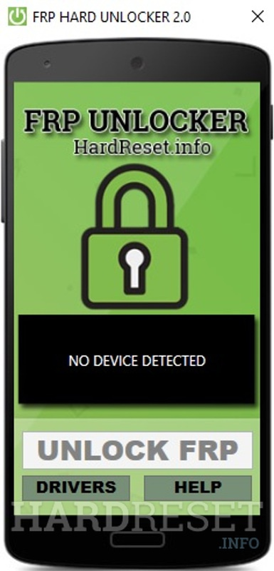 FRP Unlocker by hardreset.info no device detected