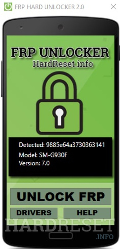 FRP Unlocker by hardreset.info device detected