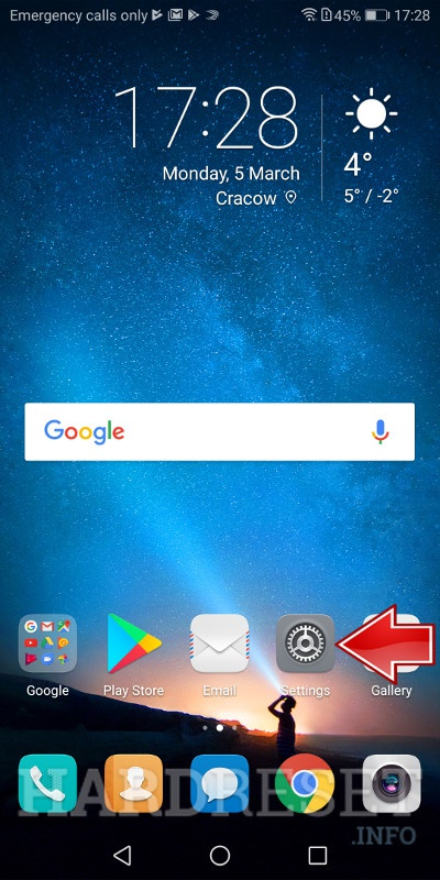 Factory Reset HUAWEI 	Honor 6 Extreme Edition