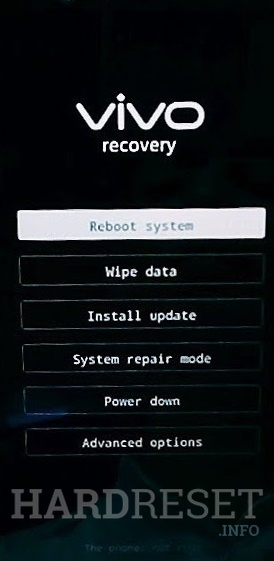 Recovery Mode VIVO V11 Pro - HardReset info