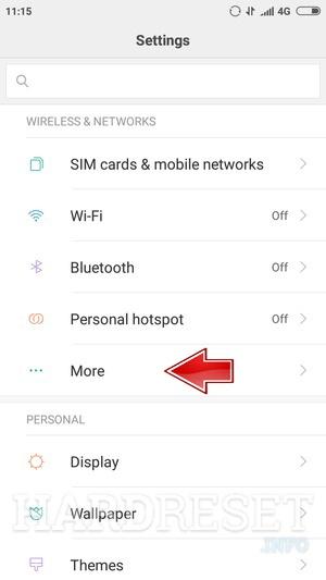 Reset Network Settings XIAOMI Redmi 5A - HardReset info