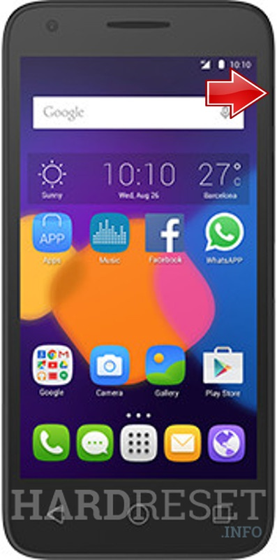 Hard Reset ALCATEL Pixi 3 4.5