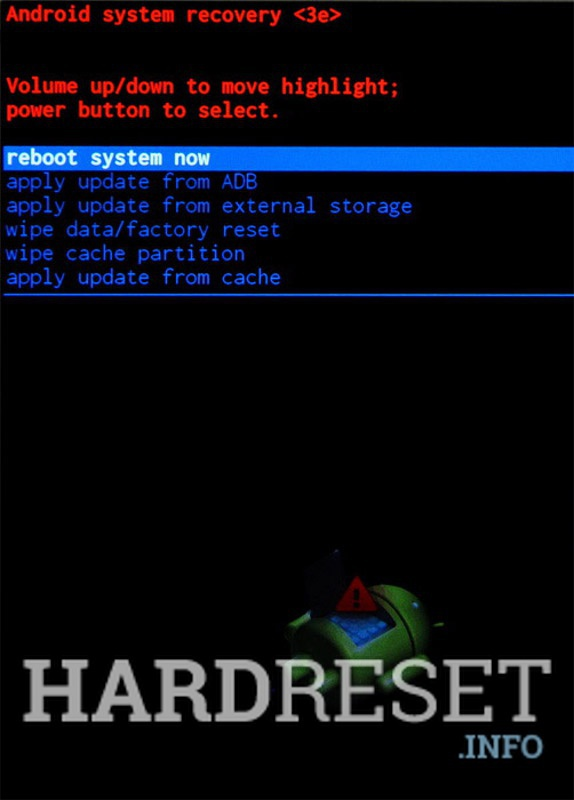 Factory Reset VERTEX Impress Action