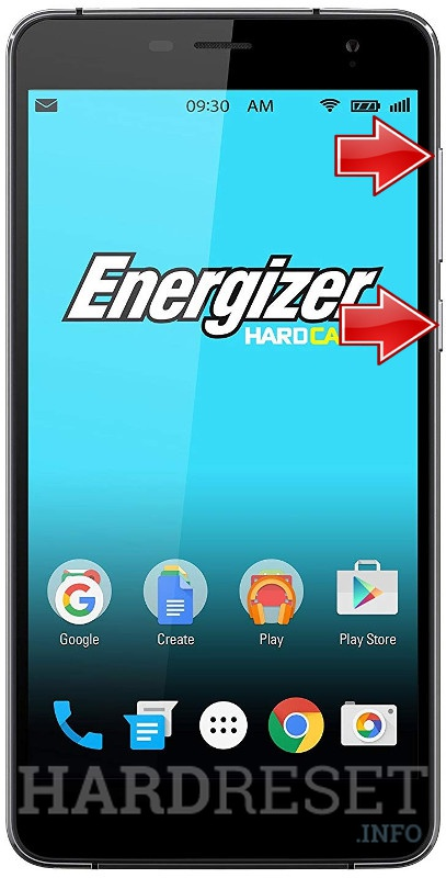 Wipe data on ENERGIZER Energy S600