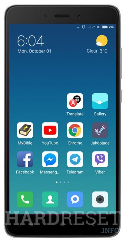 Screenshot XIAOMI Redmi Note 4 64GB - HardReset info