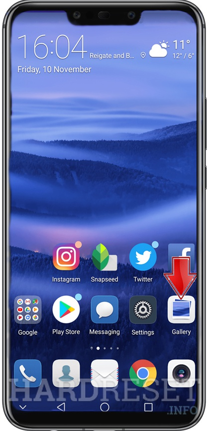 Screenshot HUAWEI Honor 8x - HardReset info