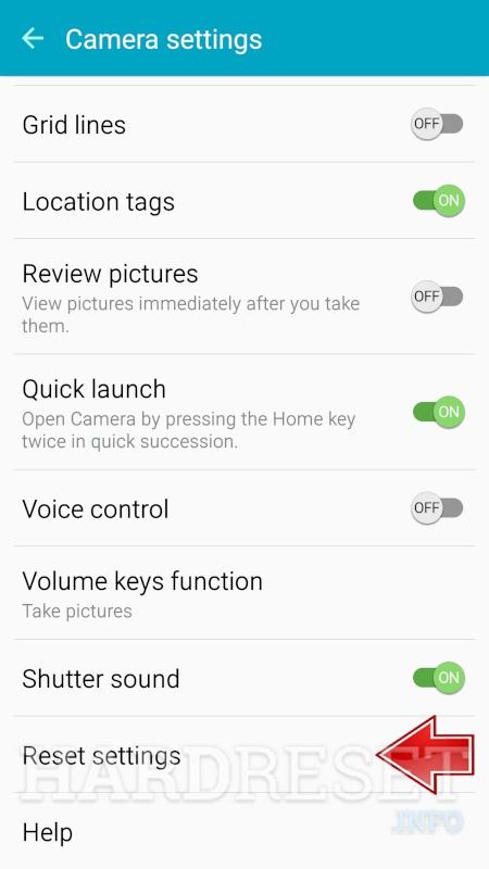 Reset Camera SAMSUNG Galaxy S9 - HardReset info