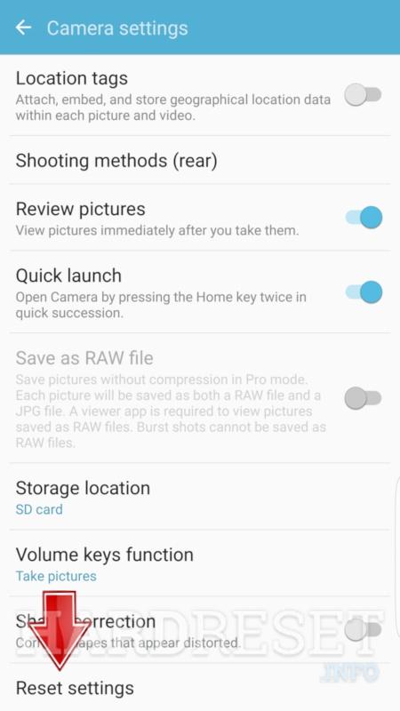 Reset Camera SAMSUNG Galaxy A7 (2018) - HardReset info