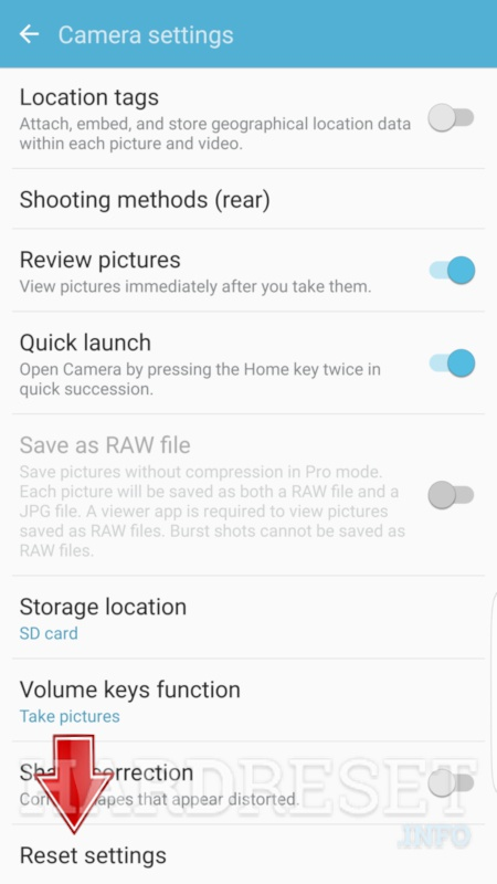 Reset Camera SAMSUNG Galaxy Grand Prime Plus 2018