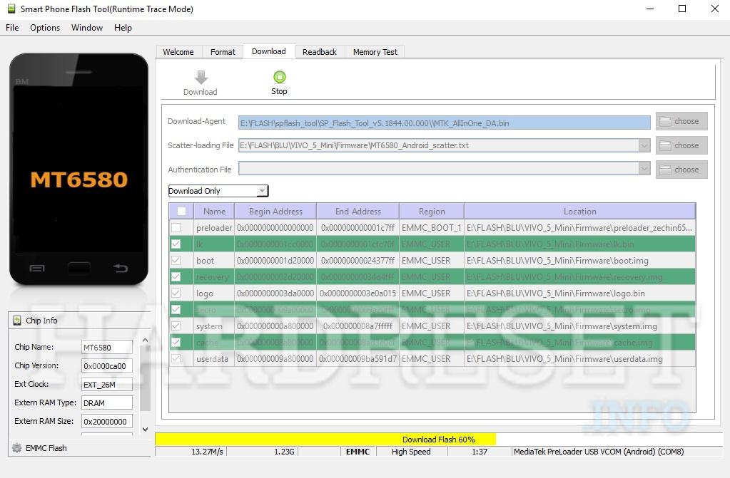 How to change / update / repair firmware in BLU Vivo 5 Mini V05EQ