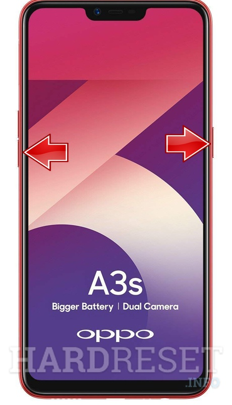 Аппаратный сброс OPPO A3s