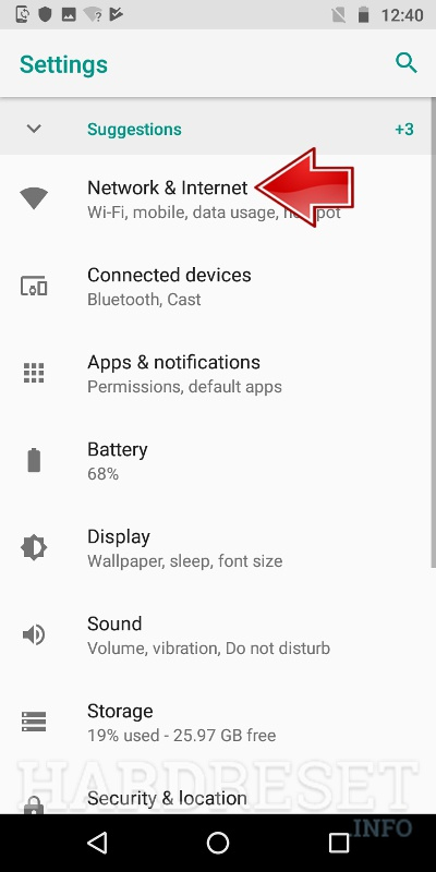 Portable Hotspot MOTOROLA Moto E5 Play - HardReset info