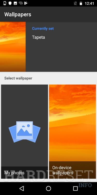 Change Wallpaper MOTOROLA Moto G6 Play - HardReset info