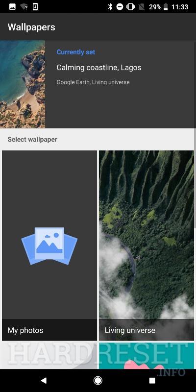 Change Wallpaper GOOGLE Pixel 3 - HardReset info