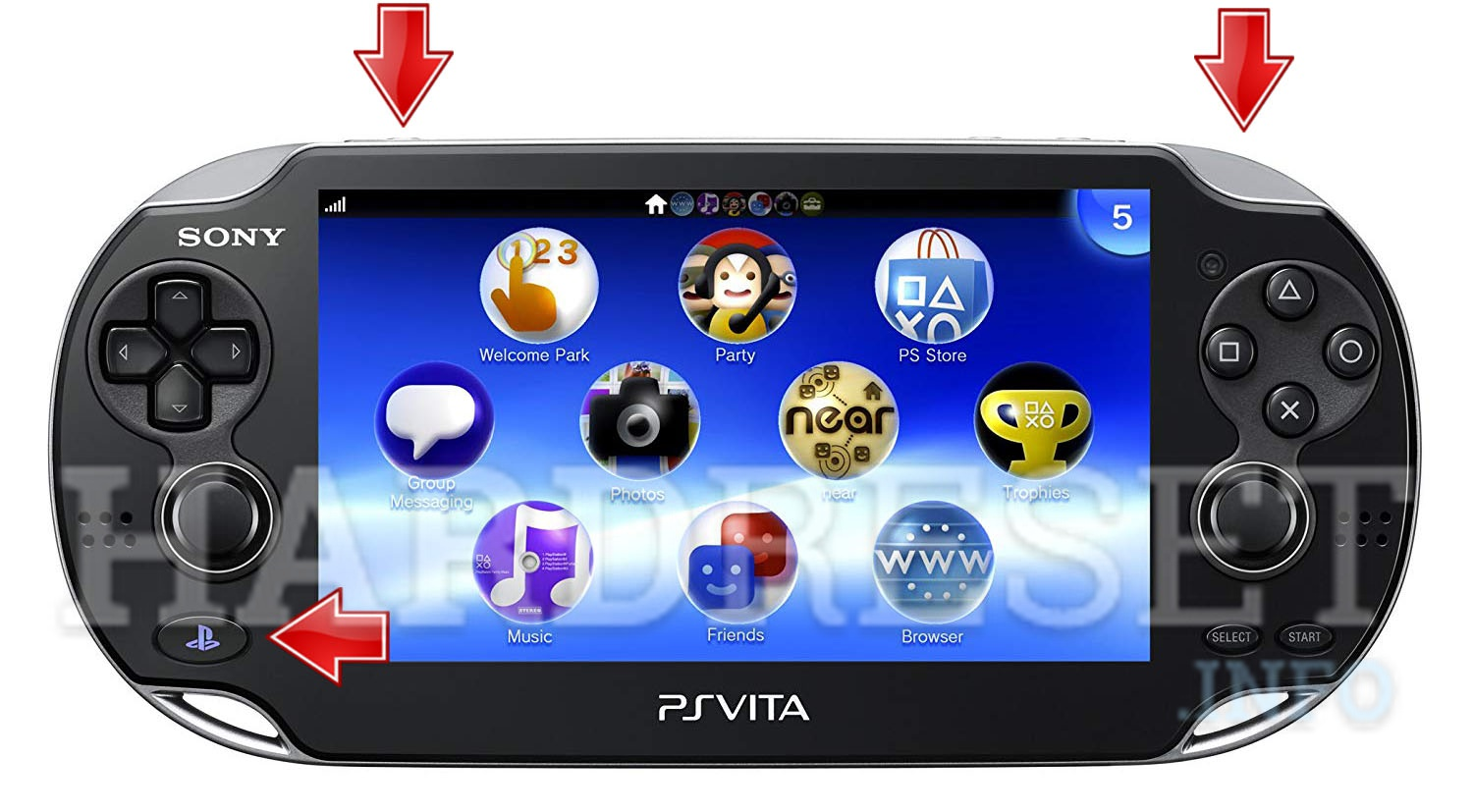 HardReset SONY PlayStation Vita WiFi