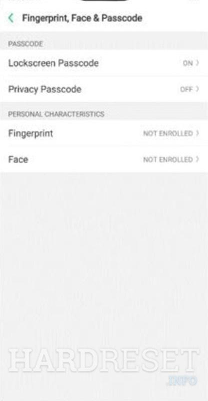 Add password REALME 3 - HardReset info