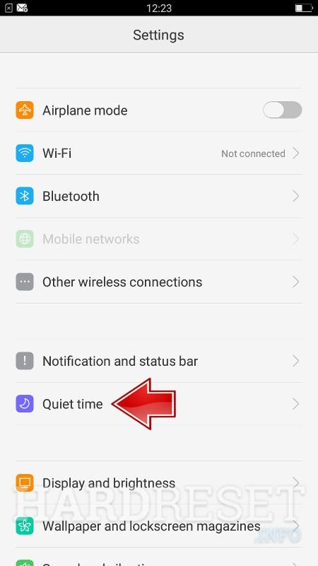 Do Not Disturb Mode REALME 3 - HardReset info